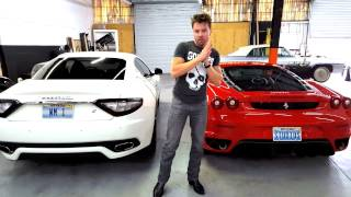 Maserati VS Ferrari sound comparison exhaust clip revving motor exotic cars