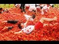 Video: Highlights of La Tomatina - Spain's tomato throwing