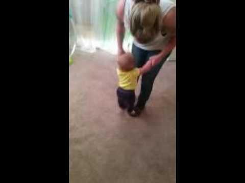 Helping baby walk
