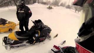 11. 2012 Polaris Rush Pro-R 800 vs skidoo trail riding,racing