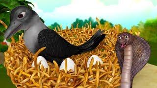 The Snake and the Crow Hindi Kahaniya | Hindi Stories for Kids | Infobells