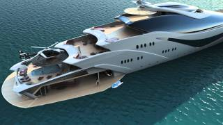Luxurious yacht  PROJECT MAGNITUDE by  Opalinski designs