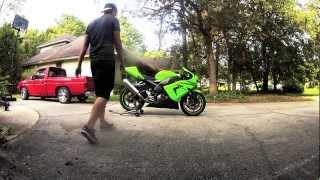 2. JDM 2005 Kawasaki ZX10 start up and walk-around