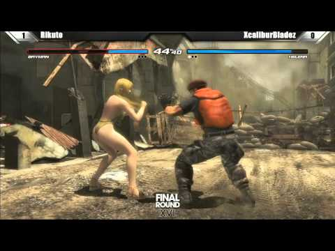 Dead or Alive 5 Grand Finals Rikuto vs XCaliburBladez Final Round XVI Tournament