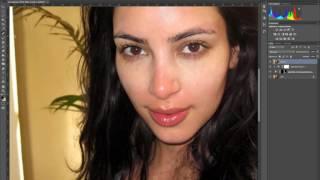 Портретная ретушь. Выравнивание тона кожи.