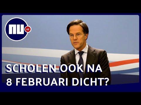 Rutte: 'Basisscholen eerder dan 8 februari open zou een wondertje zijn' | NU.nl
