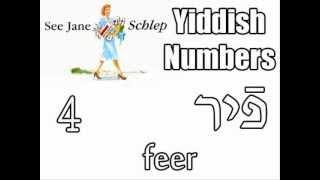 Yiddish (ייִדיש) Counting : Numbers 1-10 איינס צוויי דרײַ פֿיר פֿינף זעקס זיבן אַכט נײַן צען.