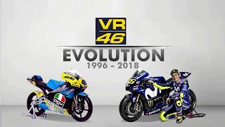 Video THE EVOLUTION OF VALENTINO ROSSI GP BIKE 1996 - 2018 MP3, 3GP, MP4, WEBM, AVI, FLV Desember 2018