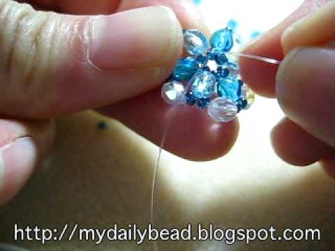 How to make a ring with beads - Ocean Blue Ring