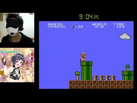 Guy Beats Super Mario Bros. BLINDFOLDED