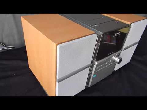 Panasonic SA-PM16 Compact Shelf 5-CD Changer Stereo System