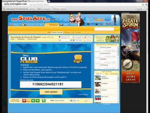 Club Penguin-Pegando código de assinatura