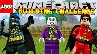 Minecraft - LEGO BUILDING CHALLENGE - Batman&Robin!