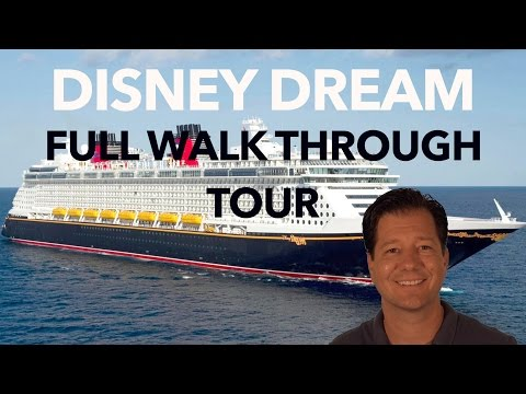 Disney Dream Review - Full Walkthrough - Cruise Ship Tour - Disney Cruise Line