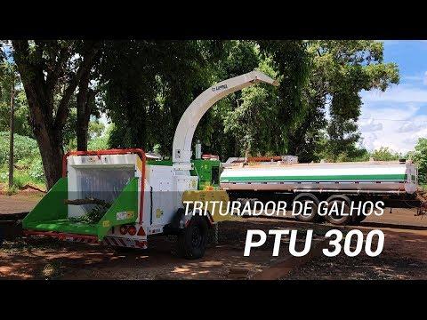 Triturador de Galhos Lippel PTU 300 – Trituração de poda urbana