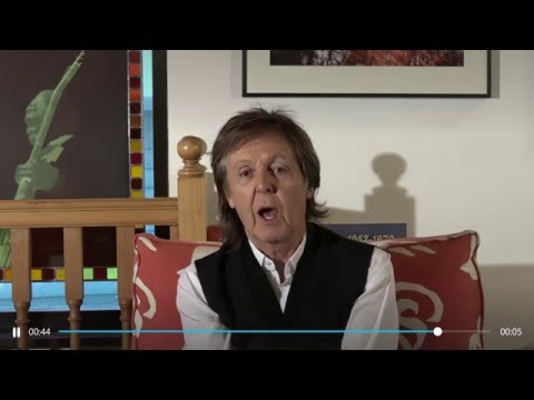 SEE Paul McCartney RECORD Some FUNKY New Music For The Folks At SKYPE!