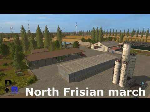 North Frisian march 4-fold map v1.3 without trenches