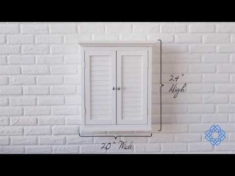 Video for Slone Wall Cabinet with Two Shutter Doors in White