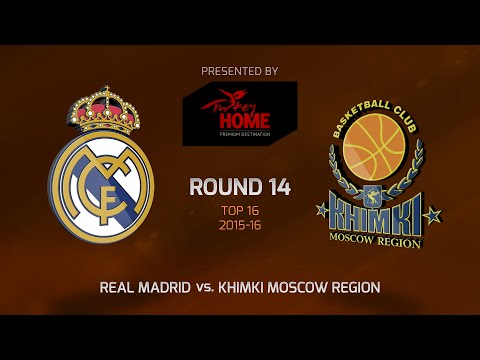 Highlights: Top 16, Round 14, Real Madrid 83-70 Khimki Moscow Region