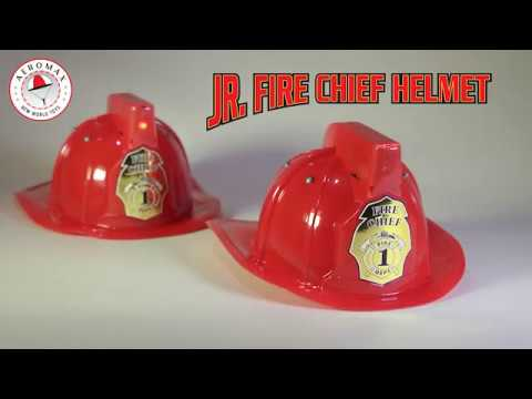 Jr. Fire Chief Helmet with siren & light