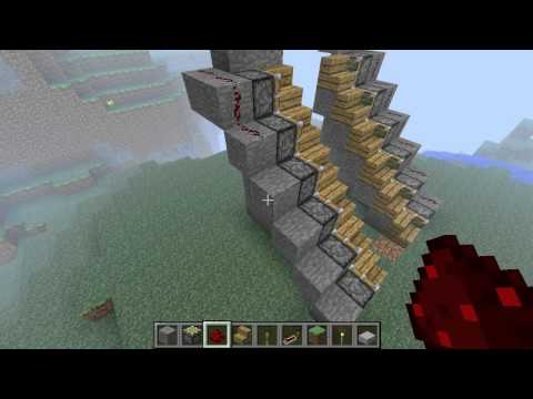 Minecraft:Retractable Staircase Tutorial