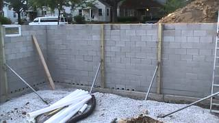 Exterior Basement Waterproofing, How it Looks Before You Backfill.