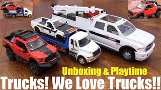 Diecast Cars And Trucks  Fast   Furious Flatbed Tow Truck  Pickup Truck And Service Truck