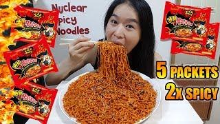 Video NUCLEAR FIRE NOODLES CHALLENGE • Mukbang •  Eating Show MP3, 3GP, MP4, WEBM, AVI, FLV Oktober 2017