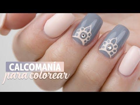 Diseños de uñas - Calcomanía para colorear con Geles Art Paint  Manicura24