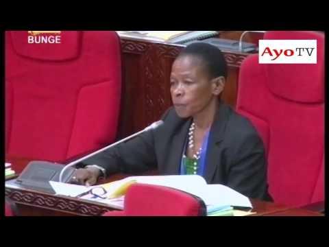 Mbunge wa Muleba Kusini Mhe. Profesa Anna Tibaijuka akichangia kuhusu sheria ya manunuzi June 01, 2016