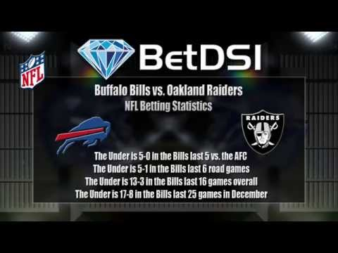 Buffalo Bills vs Oakland Raiders Odds and NFL Betting Picks