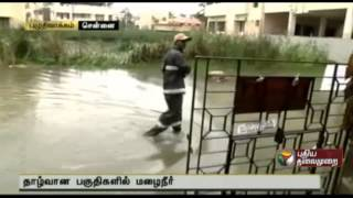 Roads inundated as rain water enters residences in Puzhuthivakkam