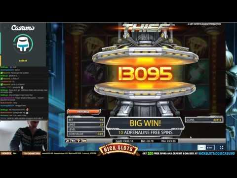 SUPER MEGA WIN on Thief - £0.75 Bet