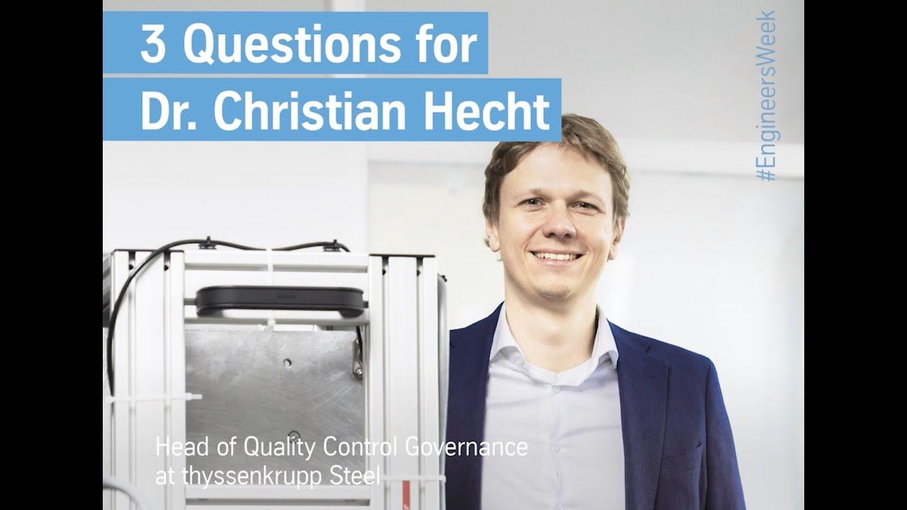 Christian Hecht, Engineer's Week 2021, thyssenkrupp, Ingenieur, Engineering