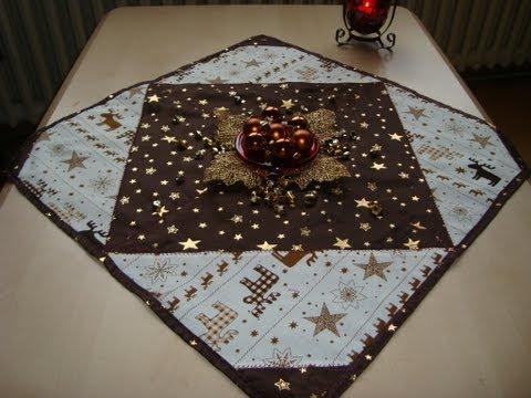 elegante centrotavola in patchwork ideale per il natale