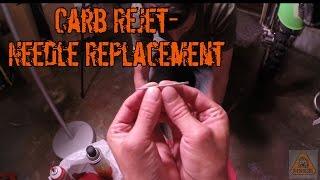 8. KLX-250s Carburetor Re-jet Without Removing It: Part 2 - Needle Replacement