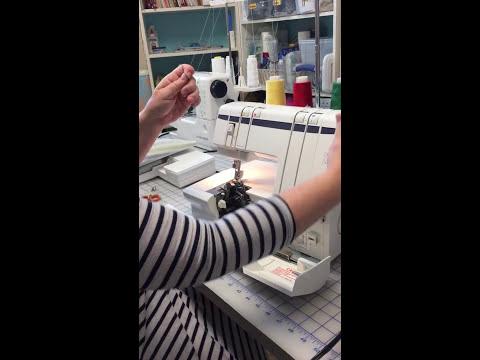 How to Thread a Husqvarna Viking Huskylock 905 910 Serger