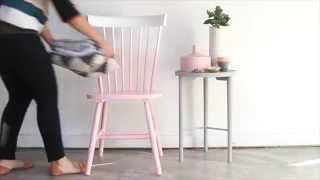 How to Makeover a Thrift Store Chair in Under an Hour *DIY Pink Ombre Chair* - YouTube