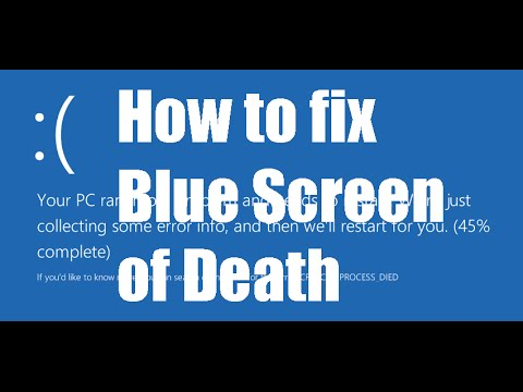 how to fix a blue screen Learn how to resolve stop errors, also called blue screen or black screen errors,   recent updates from microsoft might help fix the problem.