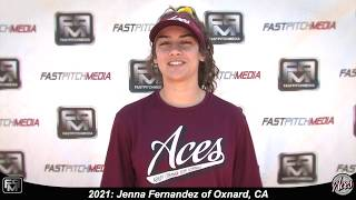 2021 Jenna Fernandez Athletic Outfielder & Second Base Softball Skills Video - Aces 18 Gold
