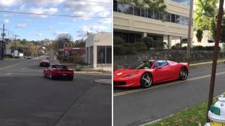 Cars Leaving - Startups&Accelerations - Miller Motorcars Ferrari Owners Autumn Rally 2014