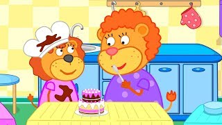 Lion Family 🦁 Cakes Cooking Show 👪 Cartoon for Kids
