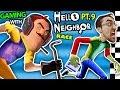 Hello Neighbor Vs Me Basement Race Challenge Irl Gaming
