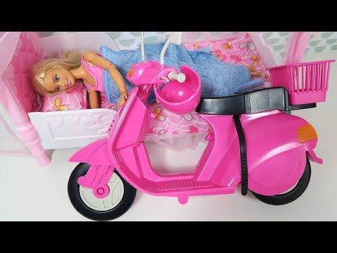 Funny Video For Children Barbie Ride on Dirt Cross Bike Power Wheel Pocket Bike Hide and Seek_Legjobb vicces videók