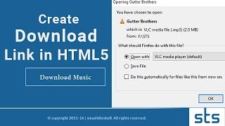 Video How to Create Download Link in HTML5 | Making Direct Downloadable Button for Any File Type download in MP3, 3GP, MP4, WEBM, AVI, FLV January 2017