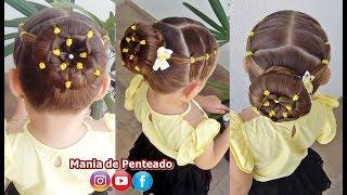 Video Penteado Infantil coque com flor de ligas MP3, 3GP, MP4, WEBM, AVI, FLV Agustus 2018