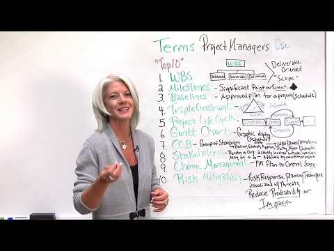 Top 10 Terms Used By Project Managers Video