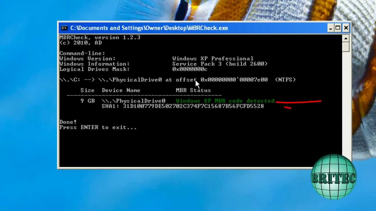 Remove Whisler, Mebroot, Sinowal Bootkit Virus Phishing Trojan by Britec