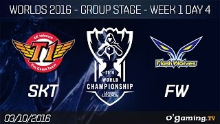 SKT vs FW - World Championship 2016 - Group Stage Week 1 Day 4