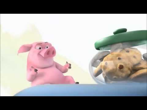 Подниматель настроения: Свинка и печеньки (video)